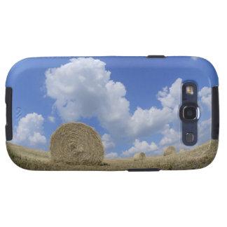 Balas de heno en el campo, Pienza, d'Orcia de Val, Samsung Galaxy S3 Funda
