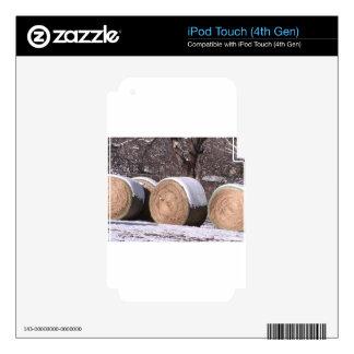 Balas de heno nevadas iPod touch 4G skin