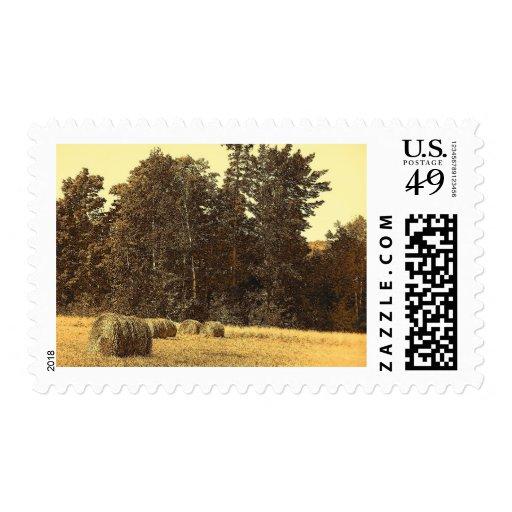 Balas de heno sello postal