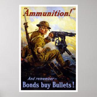 Balas de la compra de los enlaces -- WWI Póster
