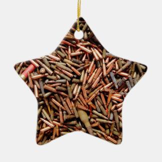 Balas, munición adorno de cerámica en forma de estrella
