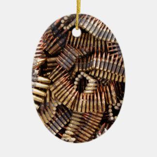 Balas, munición adorno ovalado de cerámica
