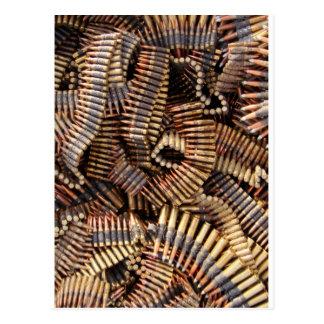 Balas munición tarjetas postales