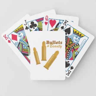 Balas y belleza cartas de juego