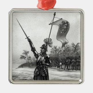 Balboa Claiming Dominion Metal Ornament