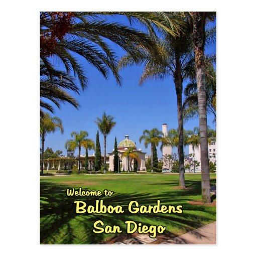 Balboa Gardens San Diego California Postcard