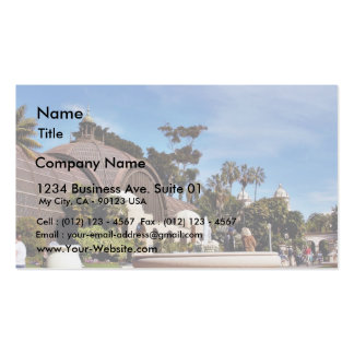 Balboa Park Arboreum In San Diego Business Card