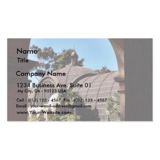 Balboa Park Arboreum In San Diego Seen Through One Business Card Templates