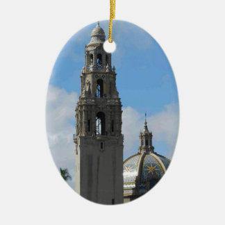 Balboa Park Clock Tower Ceramic Ornament