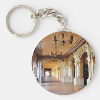 Balboa Park Column Basic Round Button Keychain