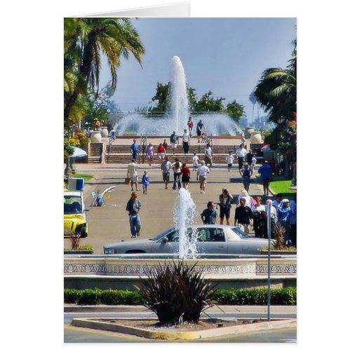 Balboa Park Fountains Prado Gaslamps Greeting Card