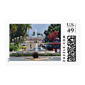 Balboa Park Fountains Prado Gaslamps Postage Stamp