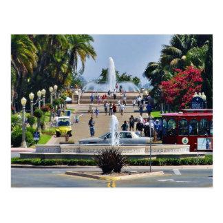 Balboa Park Fountains Prado Gaslamps Postcard