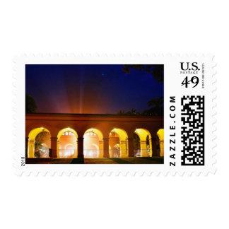 Balboa Park Lights Night Arches Postage Stamp