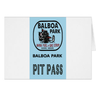 Balboa Park Pit Pass Card