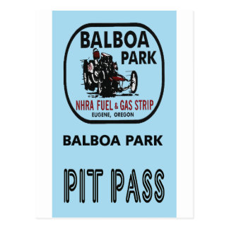 Balboa Park Pit Pass Postcard