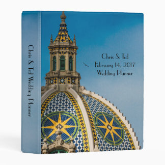Balboa Park San Diego Mosaic Dome Wedding Mini Binder