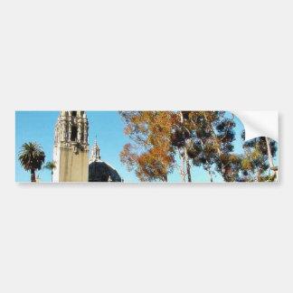 Balboa Park Tower Car Bumper Sticker
