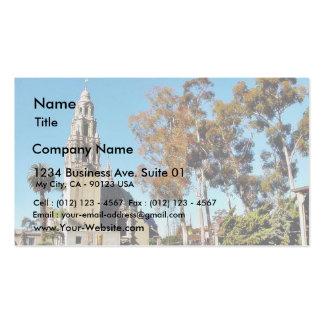 Balboa Park Tower Business Card Template