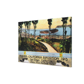 Balboa Park View of City, Panama-CA Expo Gallery Wrapped Canvas