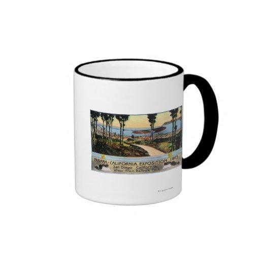 Balboa Park View of City, Panama-CA Expo Coffee Mugs