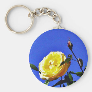 Balboa Park Yellow Roses Garden Basic Round Button Keychain