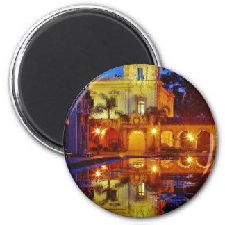 Balboa Parks Ponds Reflections Lights Night Mornin Fridge Magnet