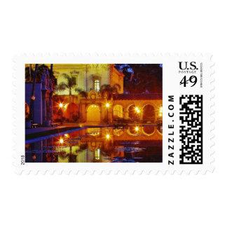 Balboa Parks Ponds Reflections Lights Night Mornin Postage Stamps