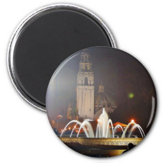 Balboa Parks Towers Fountains Night Fridge Magnets