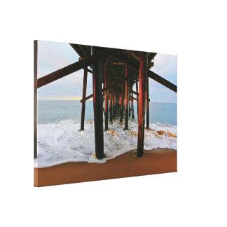 "Balboa Pier Pilings   10/8/13   (24"" x 16"") Canvas Print"