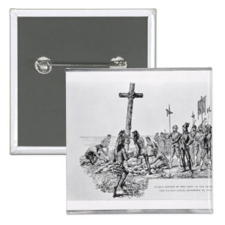 Balboa Setting up the Cross on the Shore Button