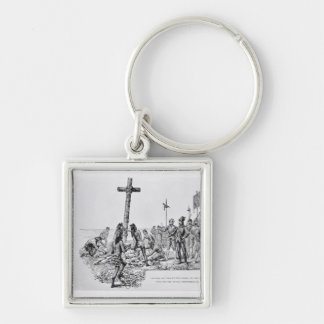 Balboa Setting up the Cross on the Shore Keychain