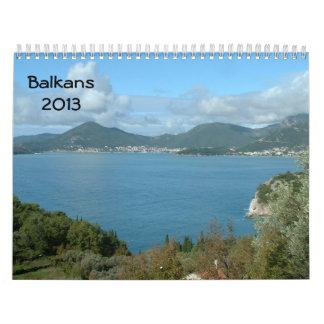 Balcanes 2013 calendarios