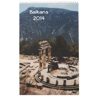 Balcanes 2014 calendario de pared