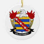 Balch Family Crest Christmas Ornaments