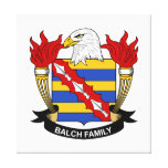 Balch Family Crest Stretched Canvas Prints