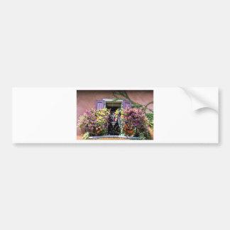 Balcón con las flores pegatina para auto