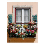 Balcón de la ventana de Lisbon´s Tarjetas Postales