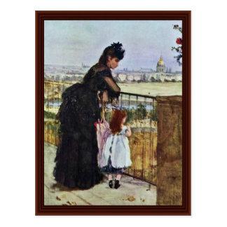 Balcón de Morisot Berthe Tarjetas Postales