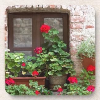 balcón florecido posavasos
