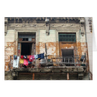 balcón viejo de La Habana Tarjeta Pequeña