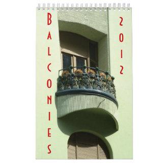 Balcones 2012 calendarios de pared