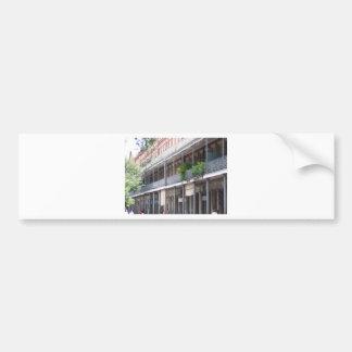 Balcones en el barrio francés pegatina para auto