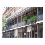 Balcones en el barrio francés postal