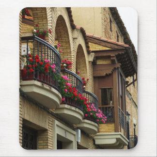 Balcones en Olite Mouse Pads