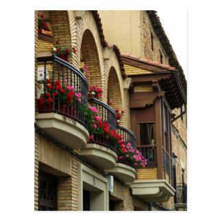 Balcones en Olite Tarjetas Postales