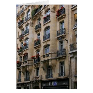 Balcones parisienses tarjeta de felicitación