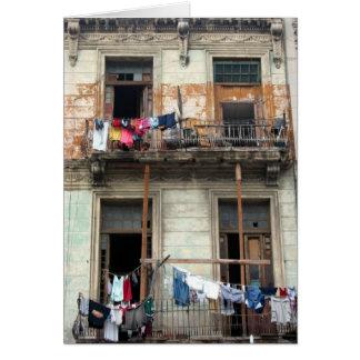 balcones viejos de La Habana Tarjeta De Felicitación