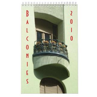 Balconies 2010 calendar
