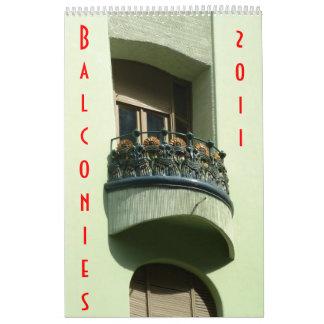 Balconies 2011 calendar